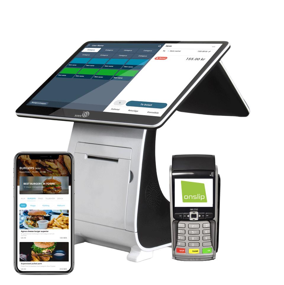 Kassasystem-med-korterminal-och-inlösenavtal-restaurangapp