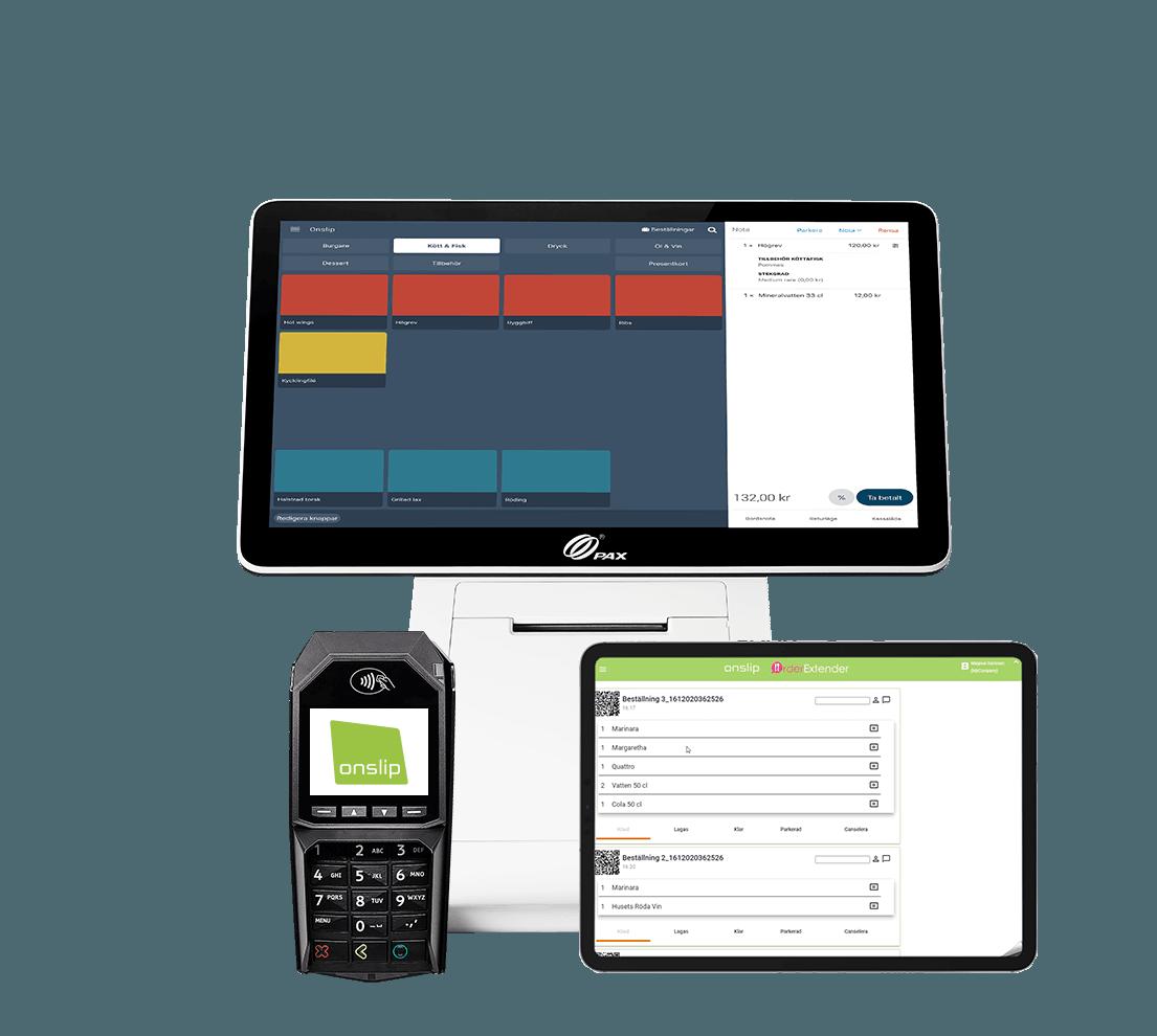 Onslip kassasystem Paketerbjudande med digitala lösningar